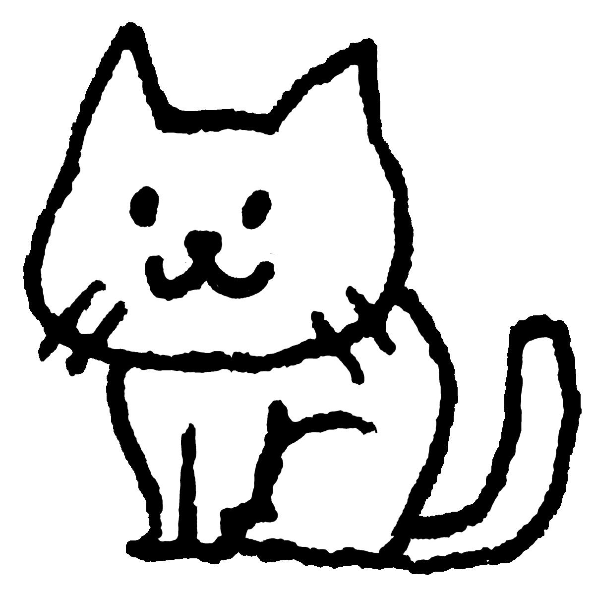 座る猫のイラスト / Sitting cat Illustration