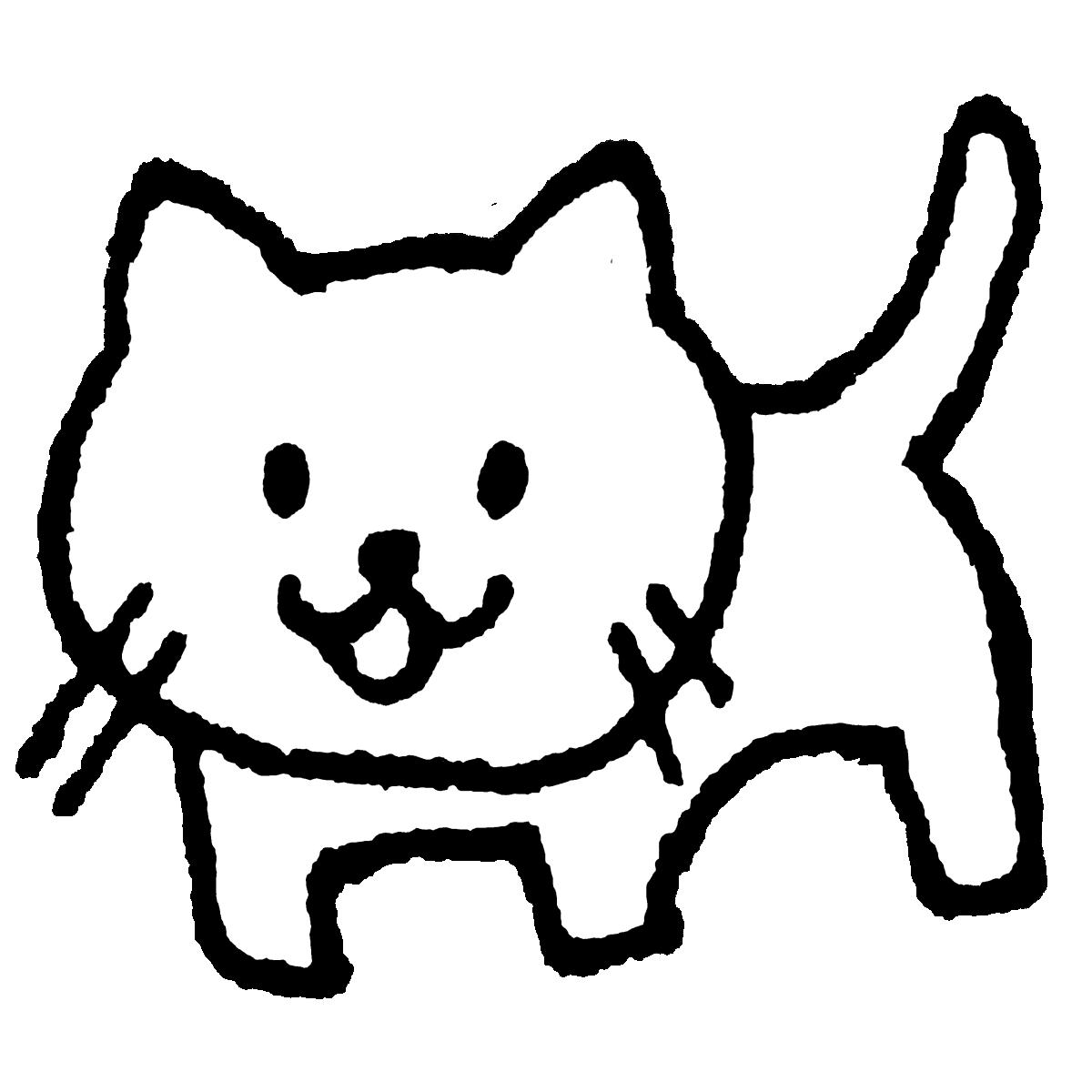 立つ猫のイラスト / Standing cat Illustration