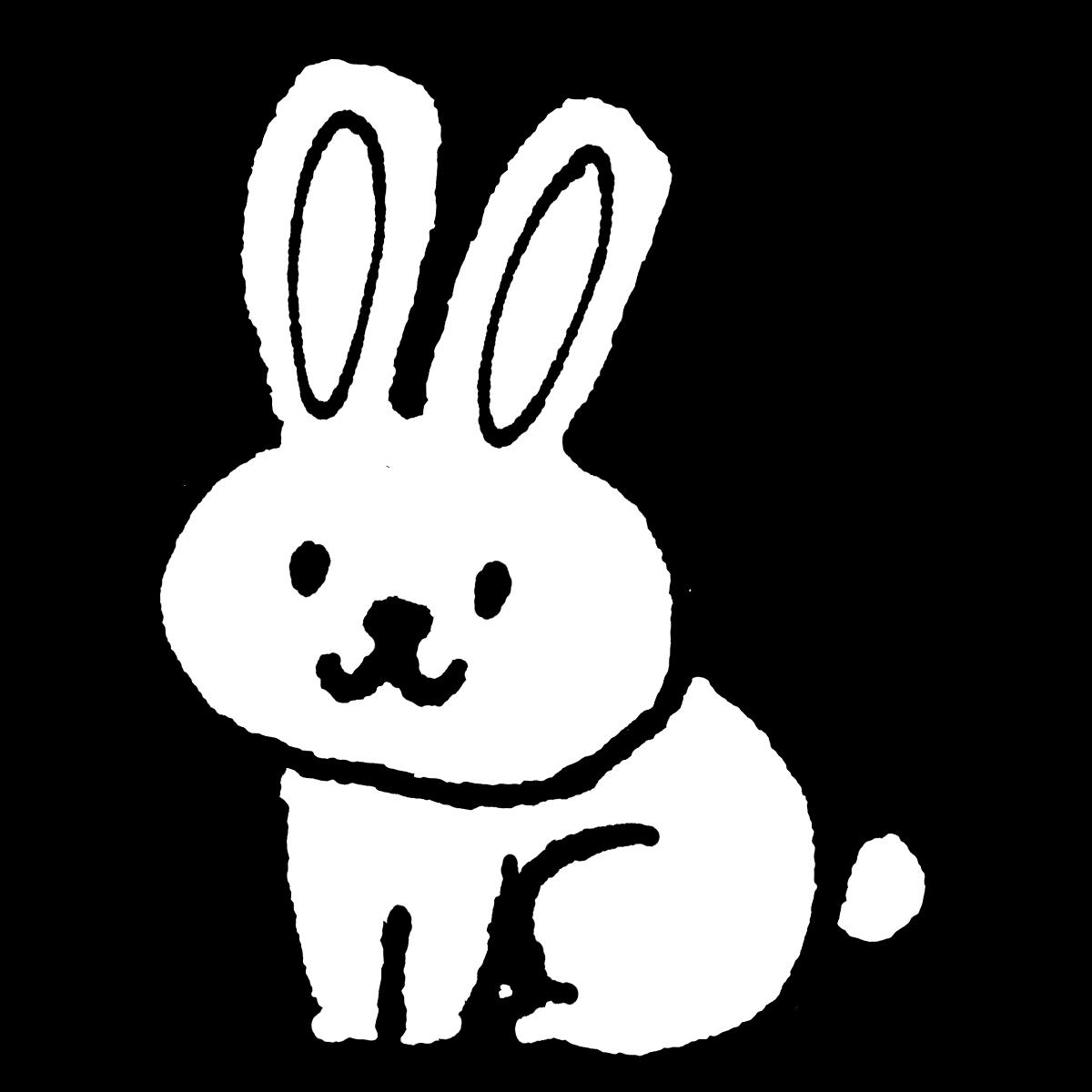座るウサギのイラスト / Sitting rabbit  Illustration
