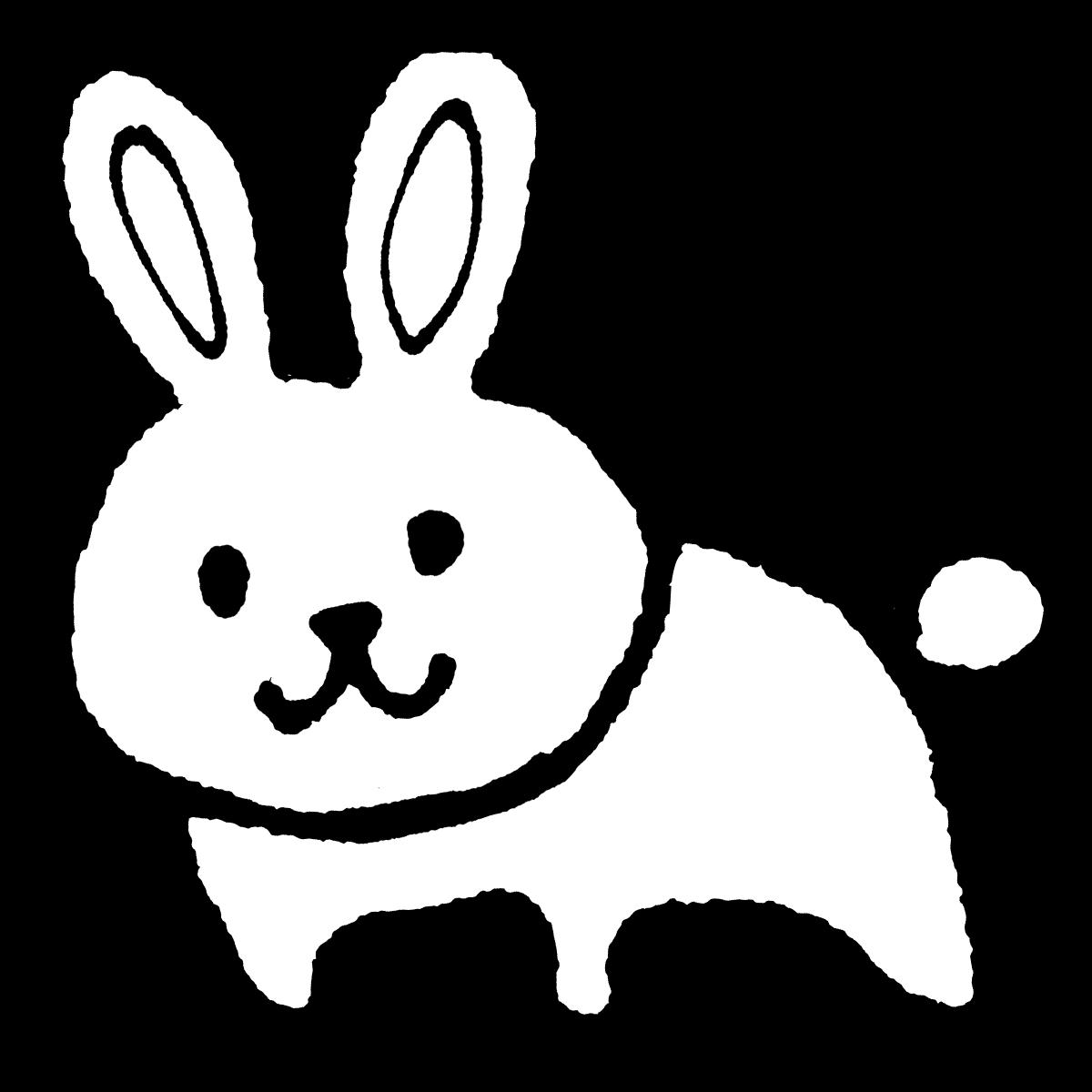 立つウサギのイラスト / Standing rabbit Illustration