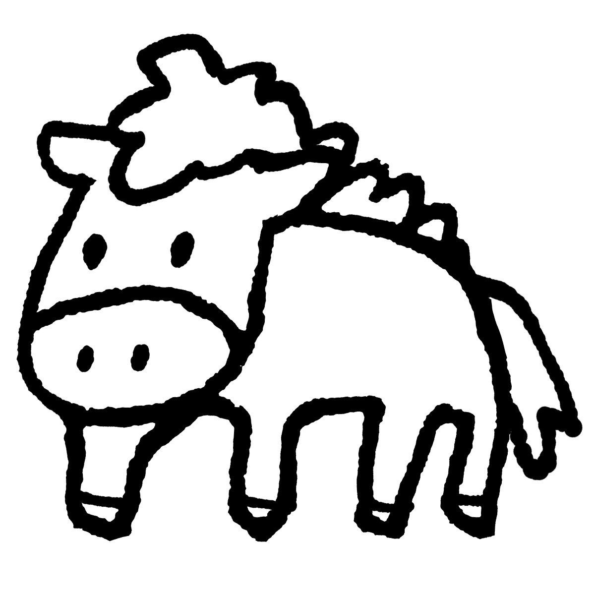立つ馬のイラスト / Standing horse Illustration