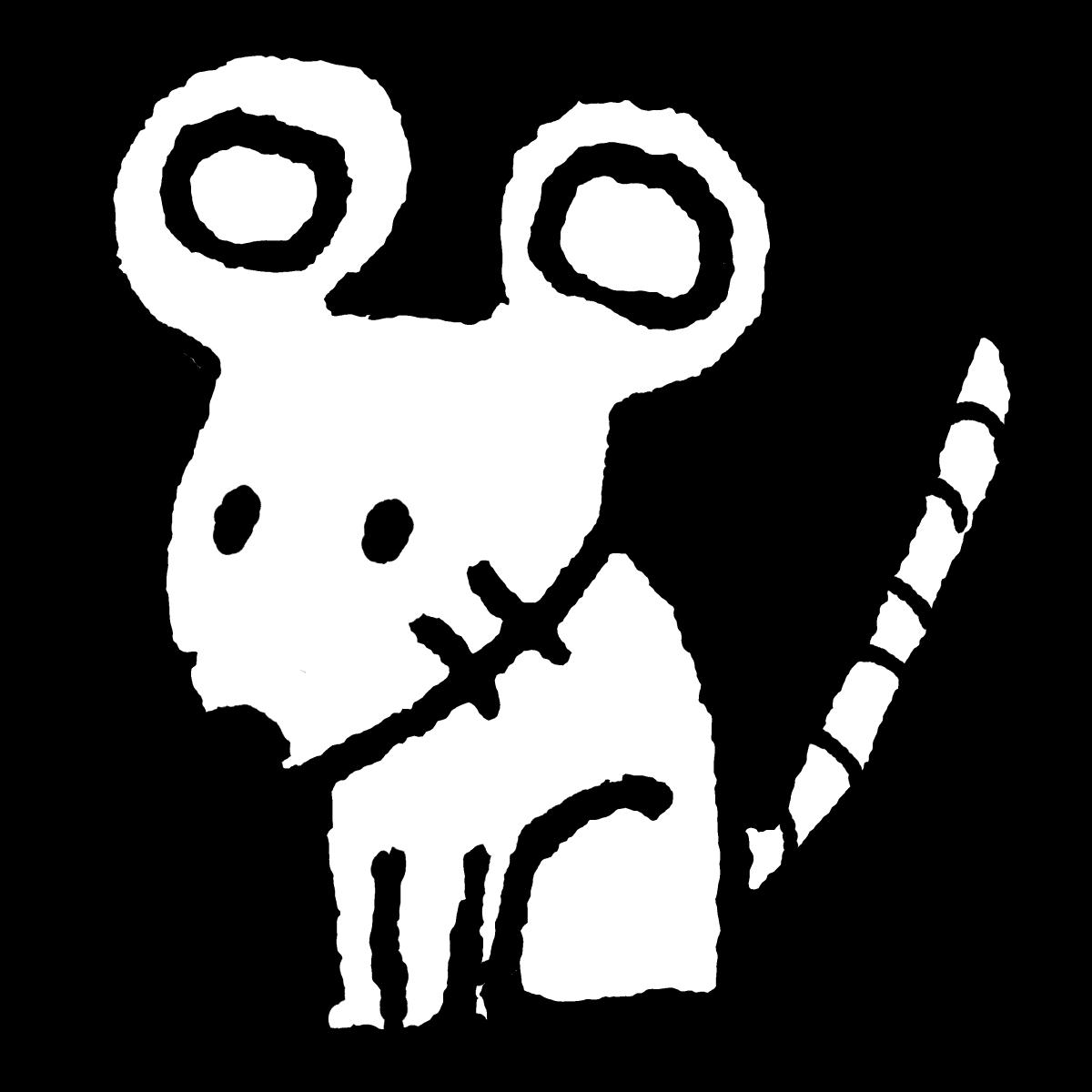 座るネズミのイラスト / Sitting mouse Illustration