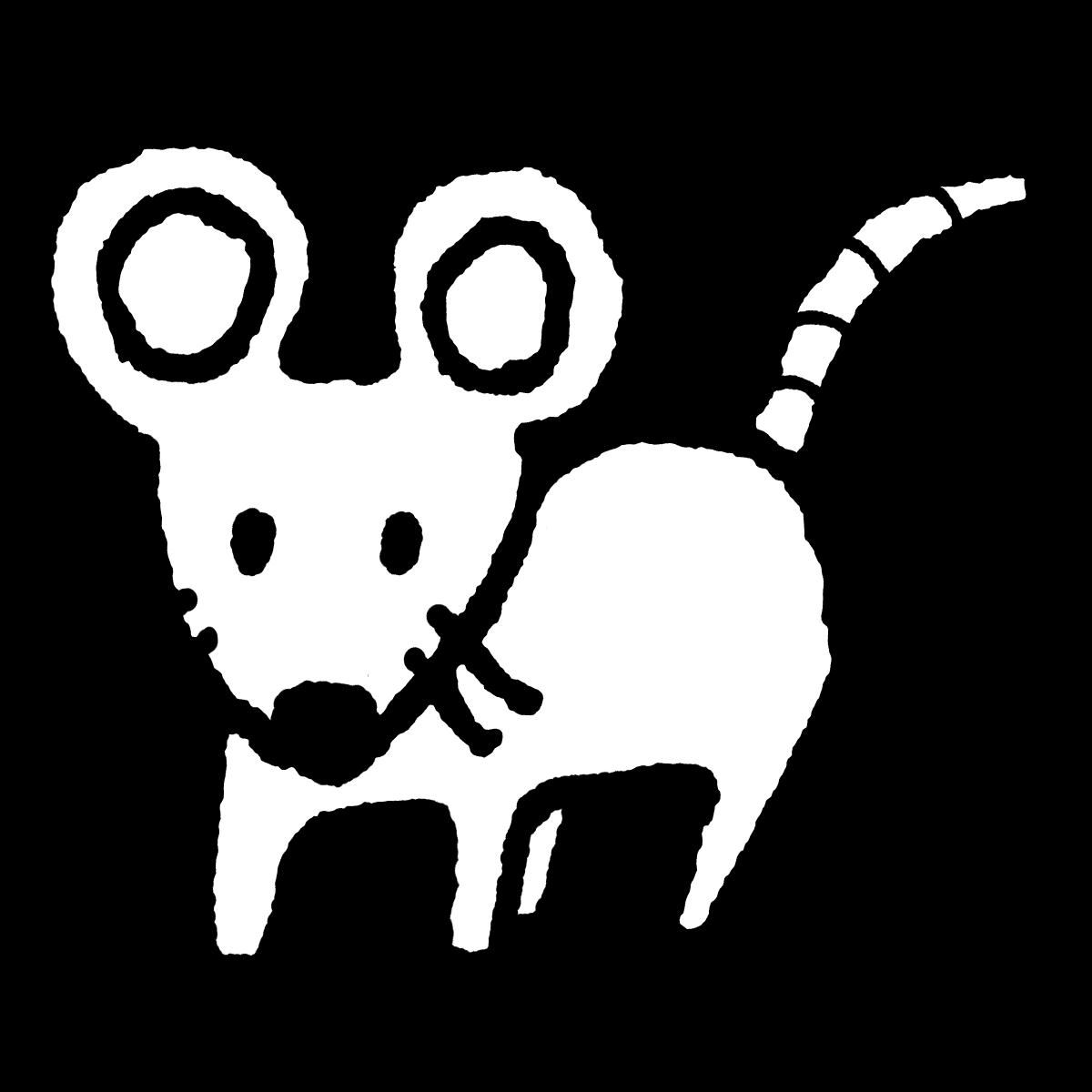 立つネズミ1のイラスト / Standing mouse 1 Illustration