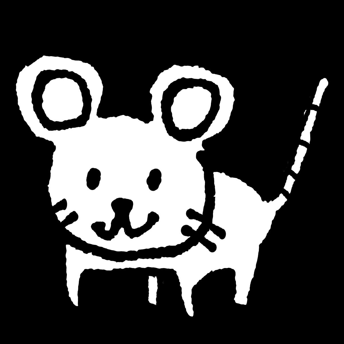 立つネズミ2のイラスト Standing mouse 2  Illustration