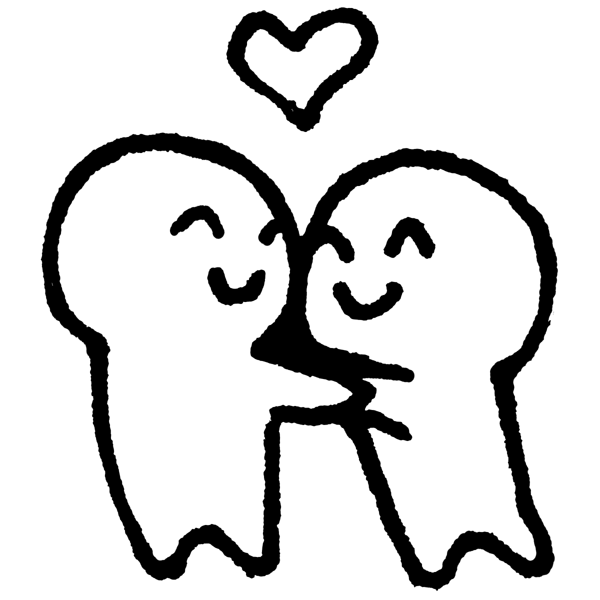 抱き合うカップルのイラスト / Hugging couple Illustration