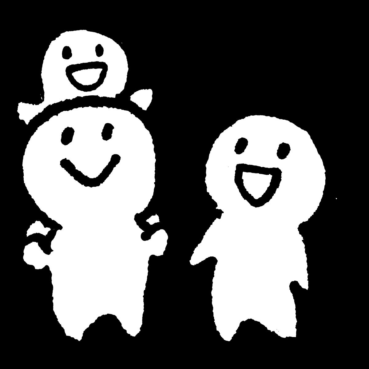 3人家族/その2のイラスト Family of 3/part 2  Illustration