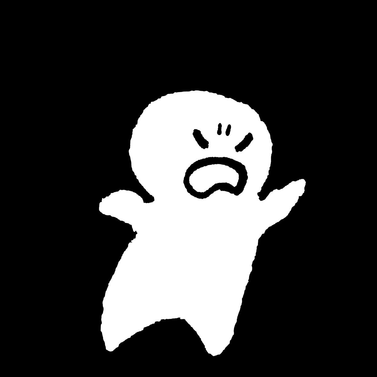 怒る人2のイラスト / Angry 2 Illustration