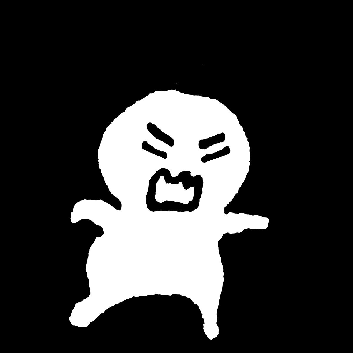 怒る人4のイラスト / Angry 4 Illustration