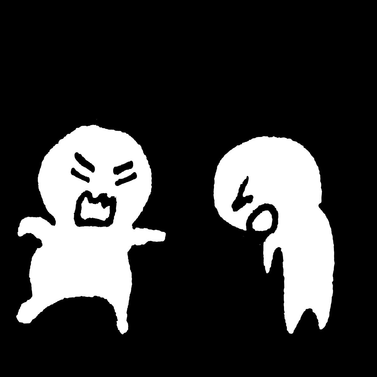 怒られるのイラスト / Get yelled at Illustration