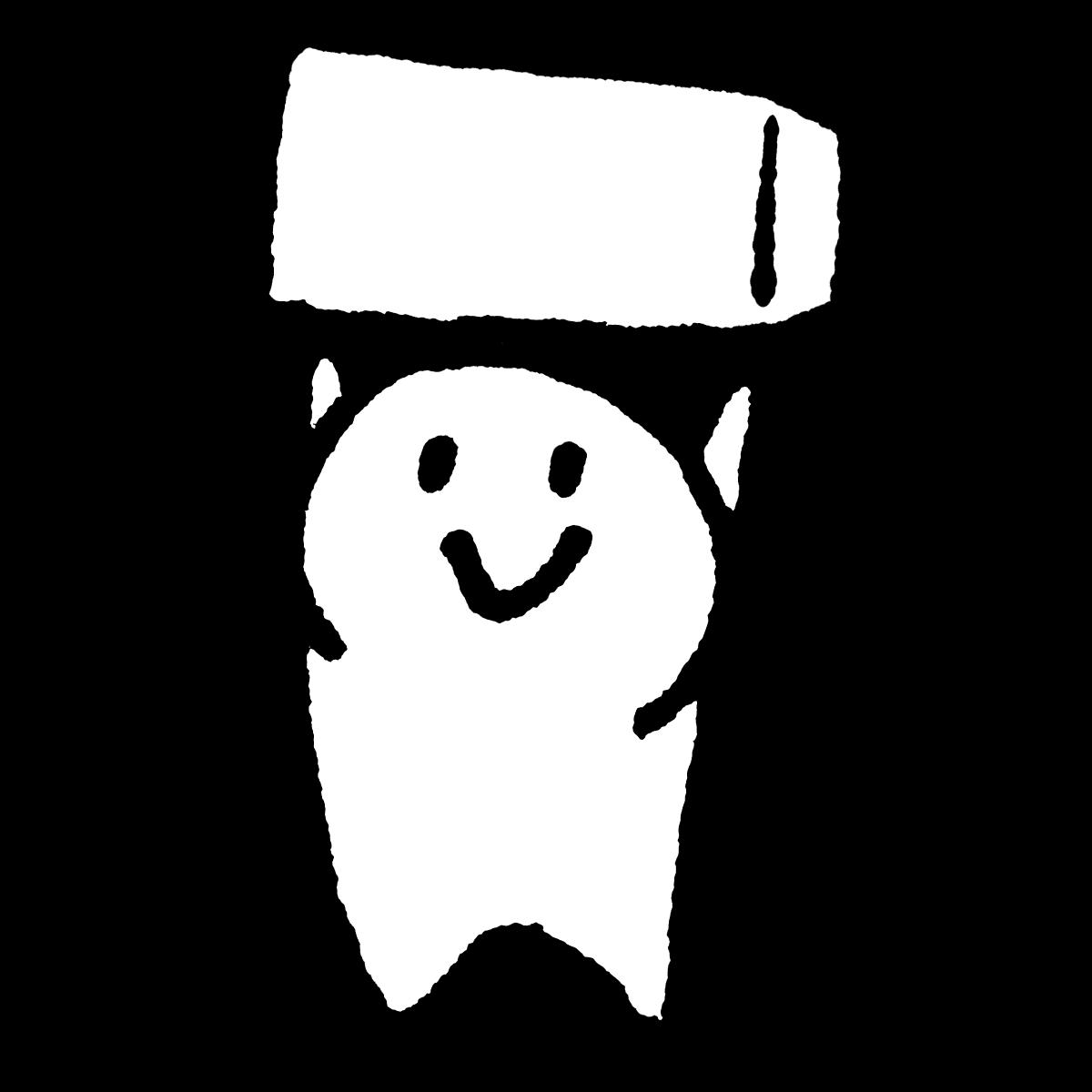 箱を持ち上げる(2種)のイラスト Lift a box (2 types)  Illustration