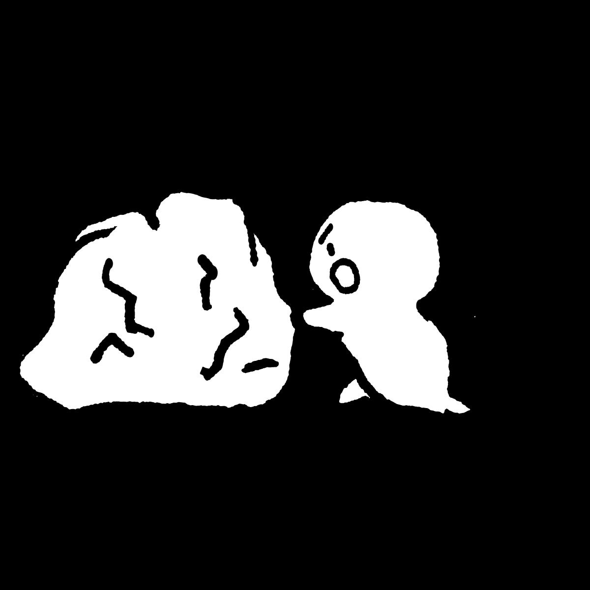 岩を動かすのイラスト Rock  Illustration