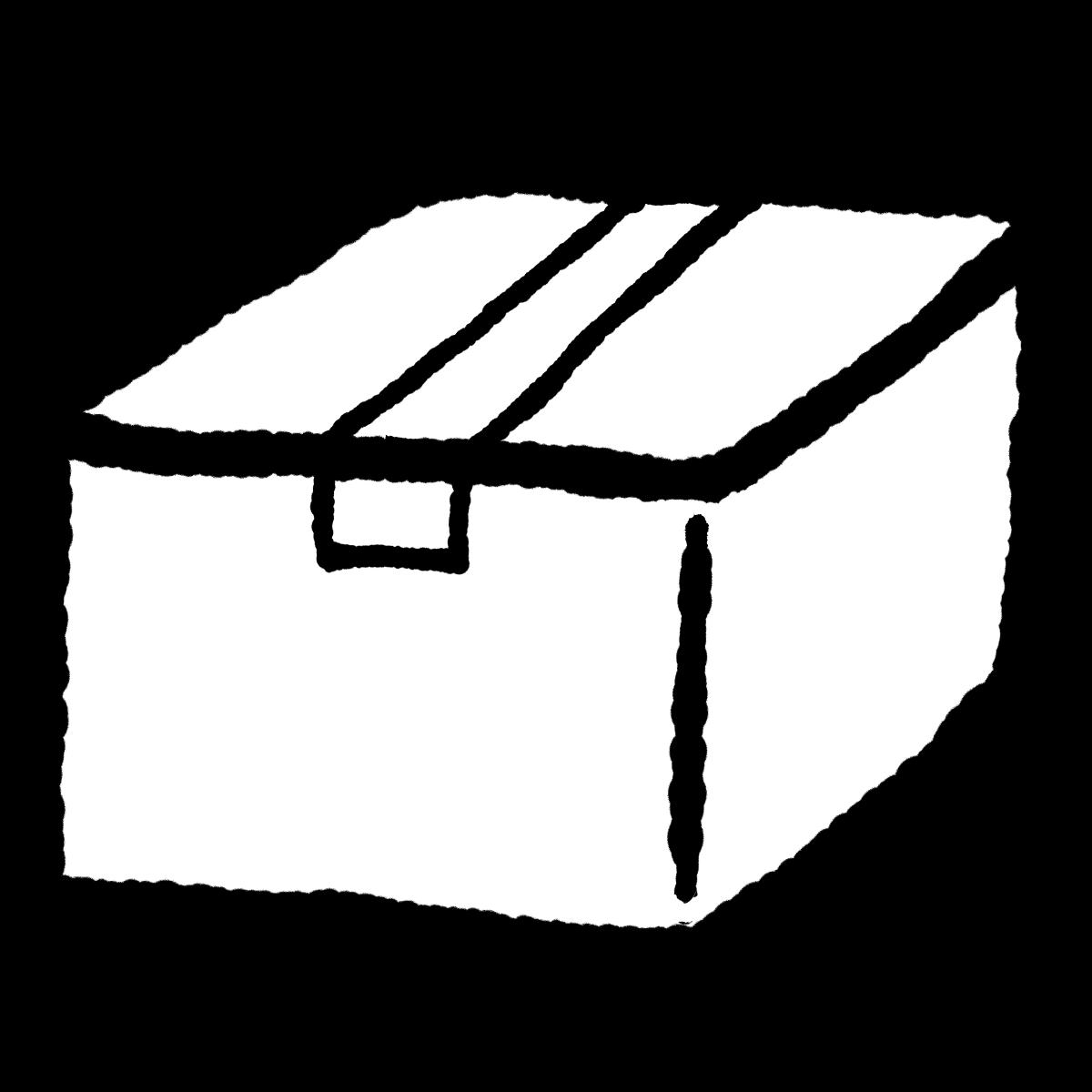 閉じた箱のイラスト Closed box  Illustration