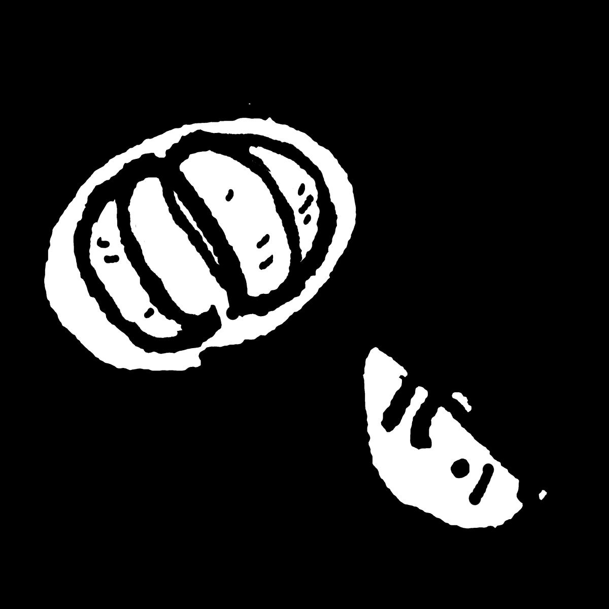 みかん(中身)のイラスト / Mandarin oranges (contents) Illustration
