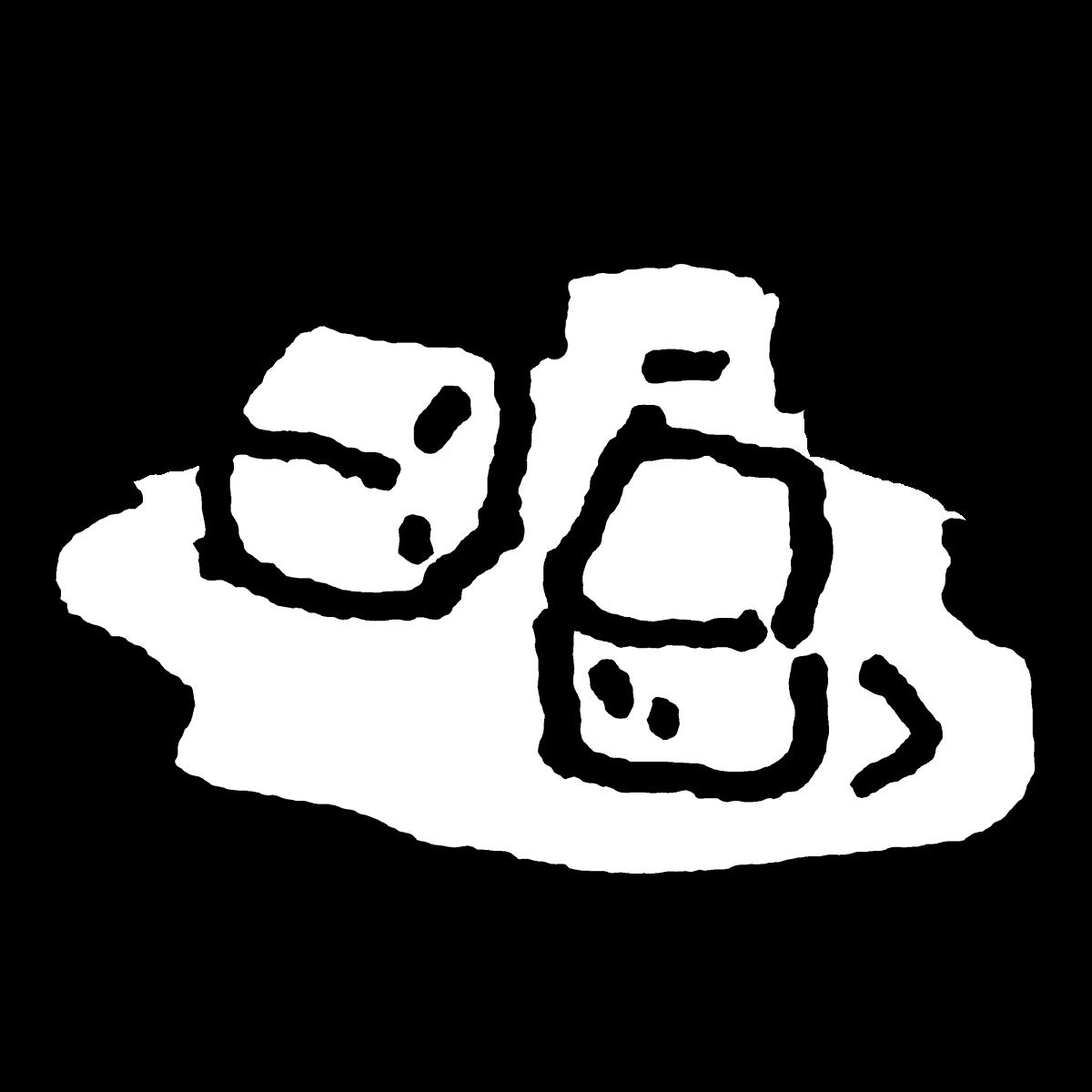 溶け始めた氷のイラスト / Ice that has begun to melt Illustration