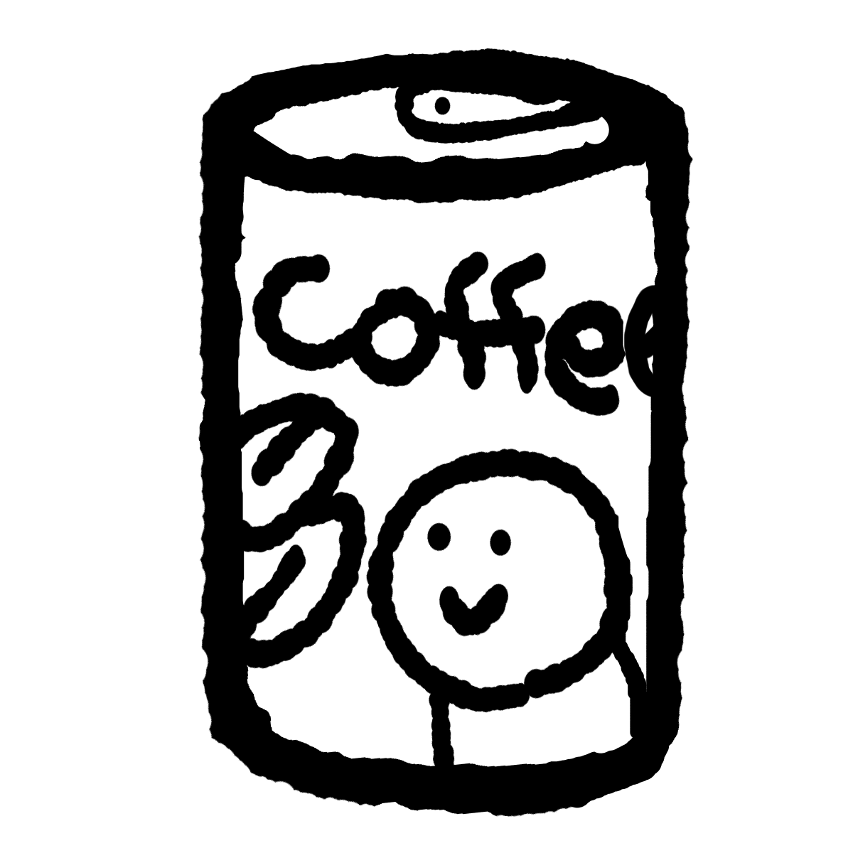 缶コーヒーのイラスト / Canned coffee Illustration