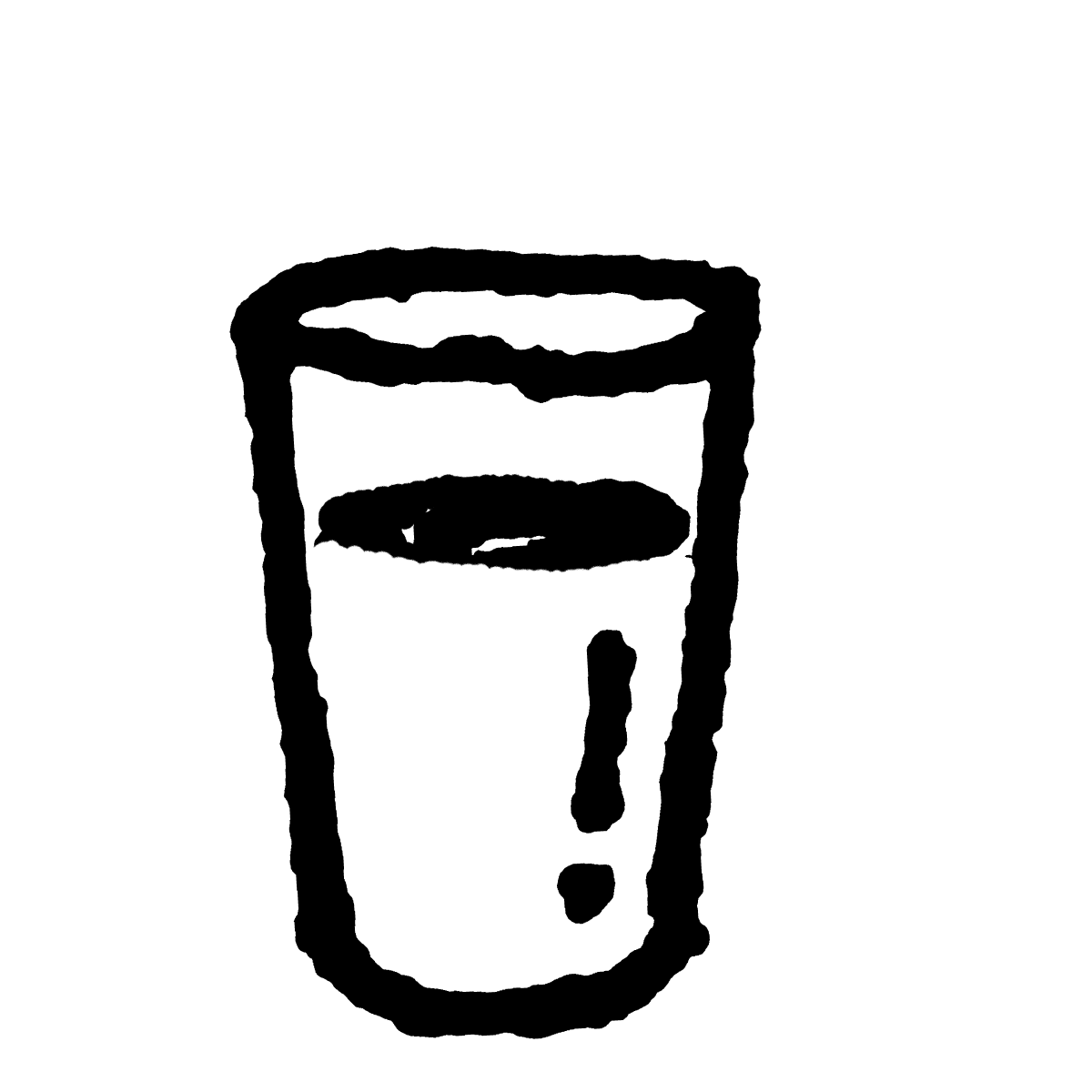 コップの水のイラスト Glass of water  Illustration