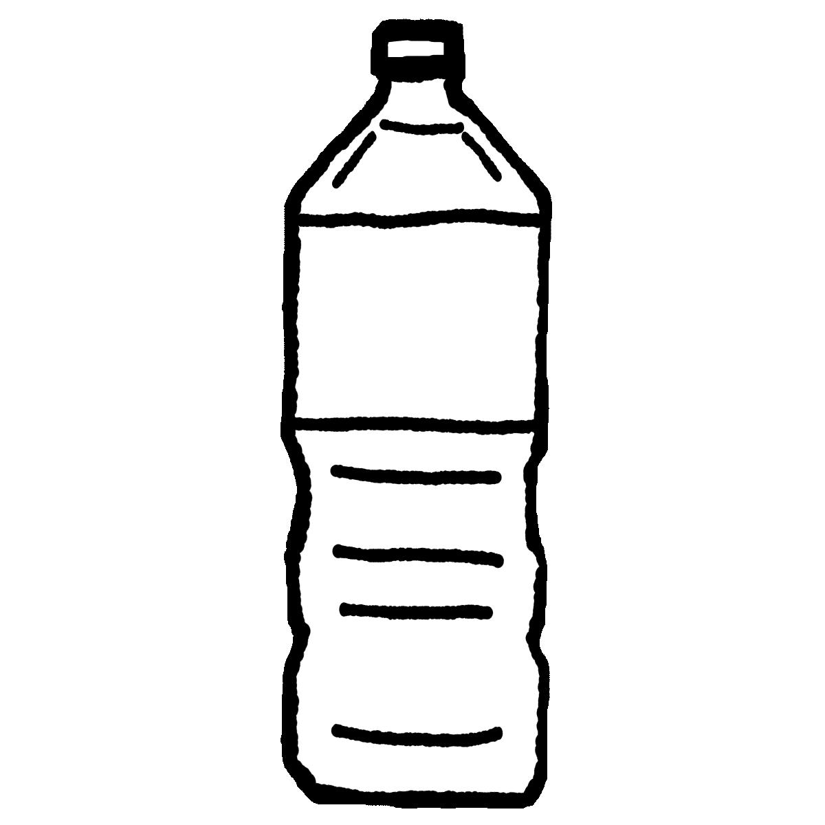 ペットボトル(大)のイラスト / Large plastic bottle Illustration