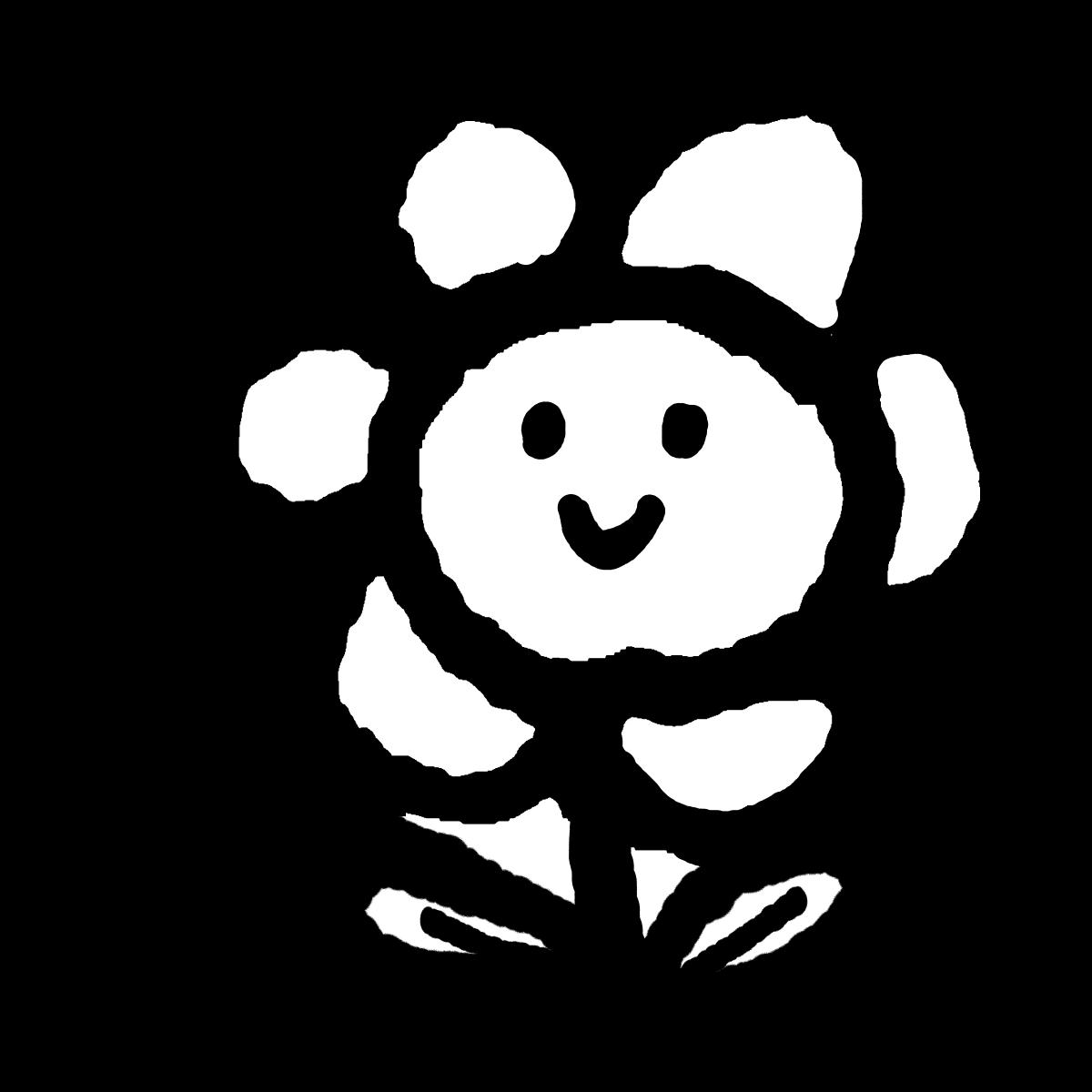 花(顔つき)のイラスト Hana (countenance)  Illustration
