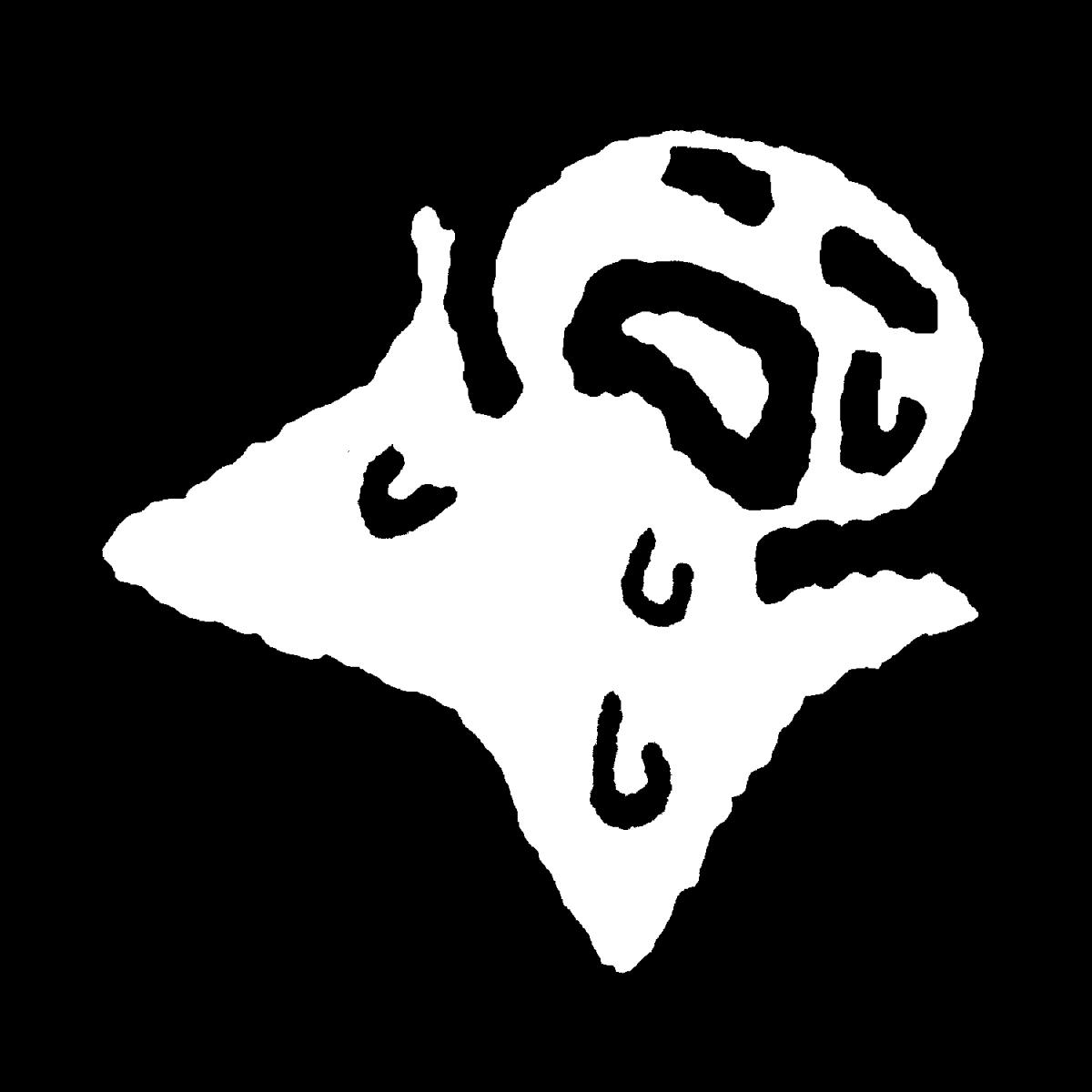 汗をかいて気絶のイラスト / Fainting from sweating Illustration