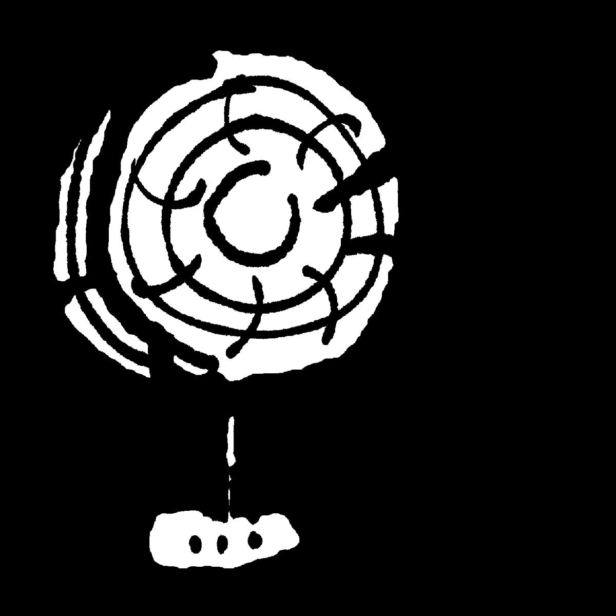 扇風機(2種)のイラスト / Electric fan Illustration