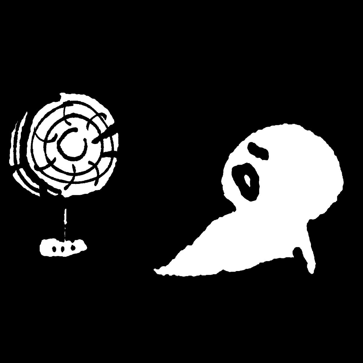 すずしい扇風機のイラスト Cool fan  Illustration