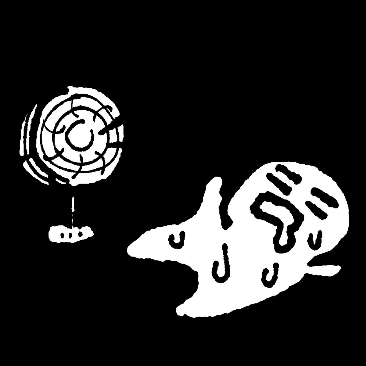 すずしくない扇風機のイラスト / An ugly fan Illustration