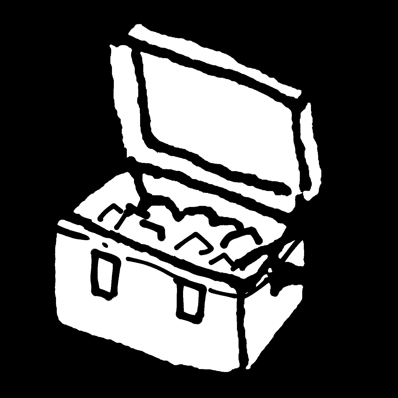 開いたクーラーボックスのイラスト / An open cooler Illustration
