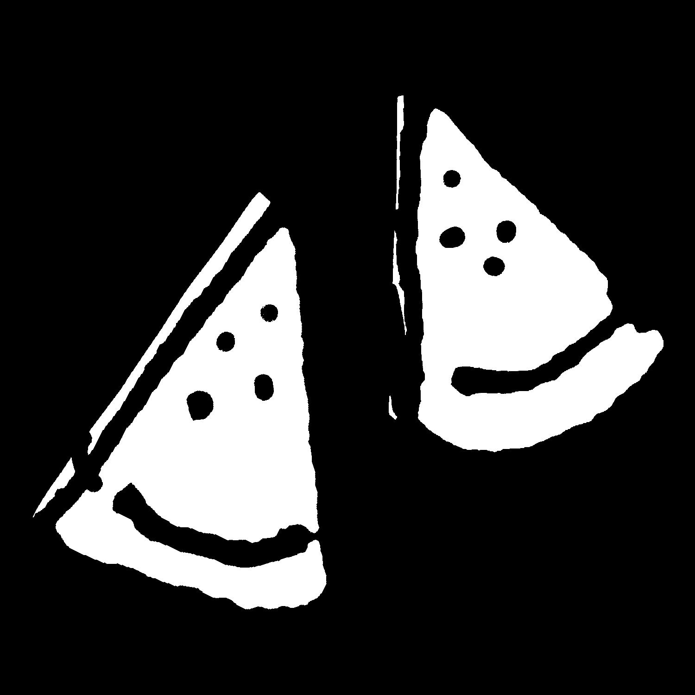 切られたスイカのイラスト / Cut watermelon Illustration