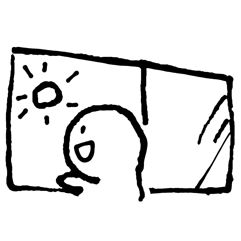 窓を開けたら晴れのイラスト / It's sunny! Illustration
