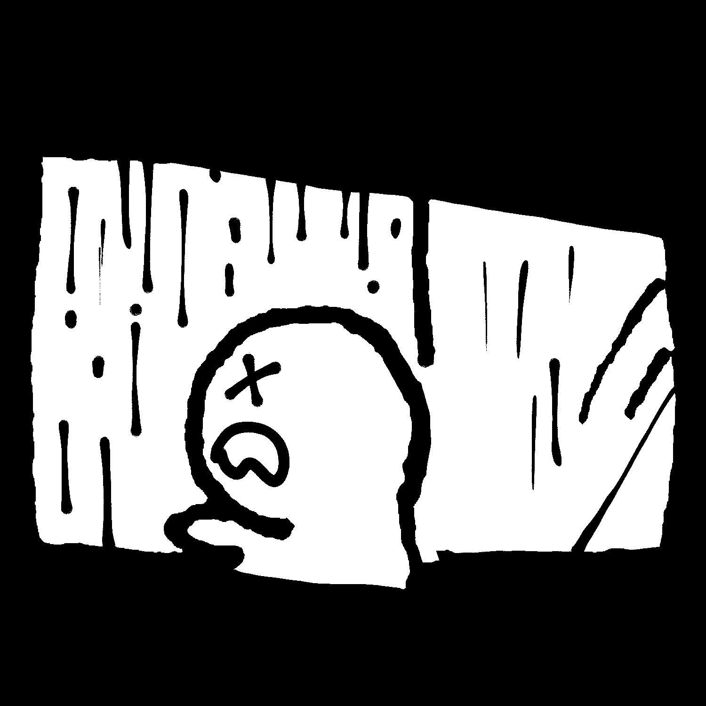 窓を開けたら雨のイラスト / It's raining! Illustration