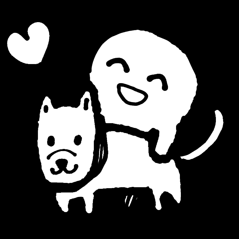 犬だいすきのイラスト / I love dogs Illustration