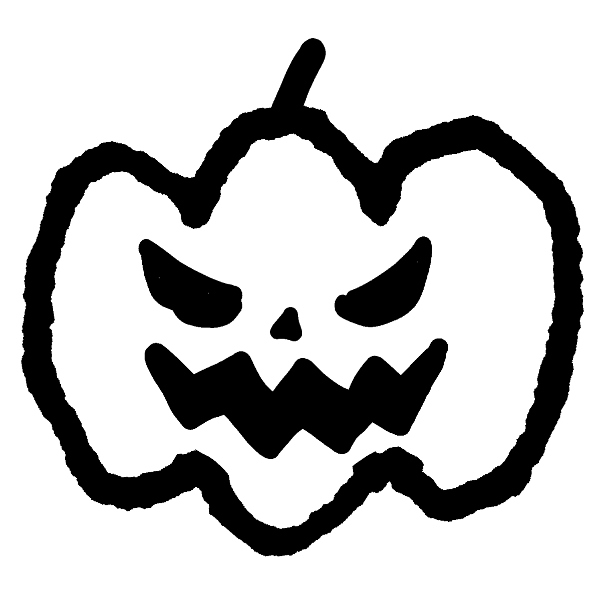 カボチャのおばけ(4種)のイラスト / Halloween's Jack O' Lantern Pumpkin  Illustration