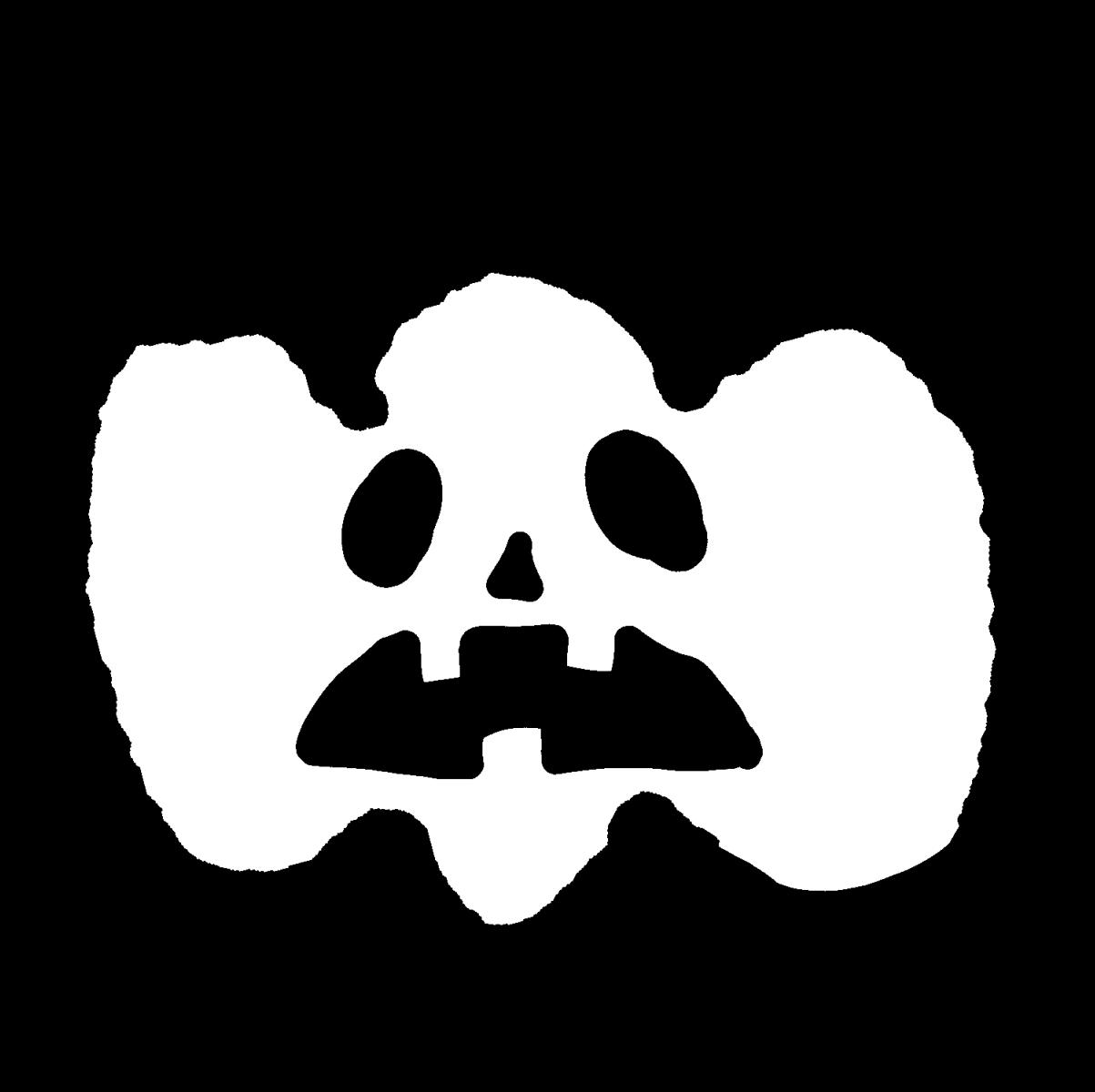 ハロウィン カボチャのおばけ Halloween's Jack O' Lantern Pumpkin illustration