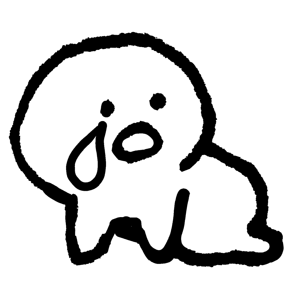 倒れ込んでべそをかくのイラスト /  Illustration