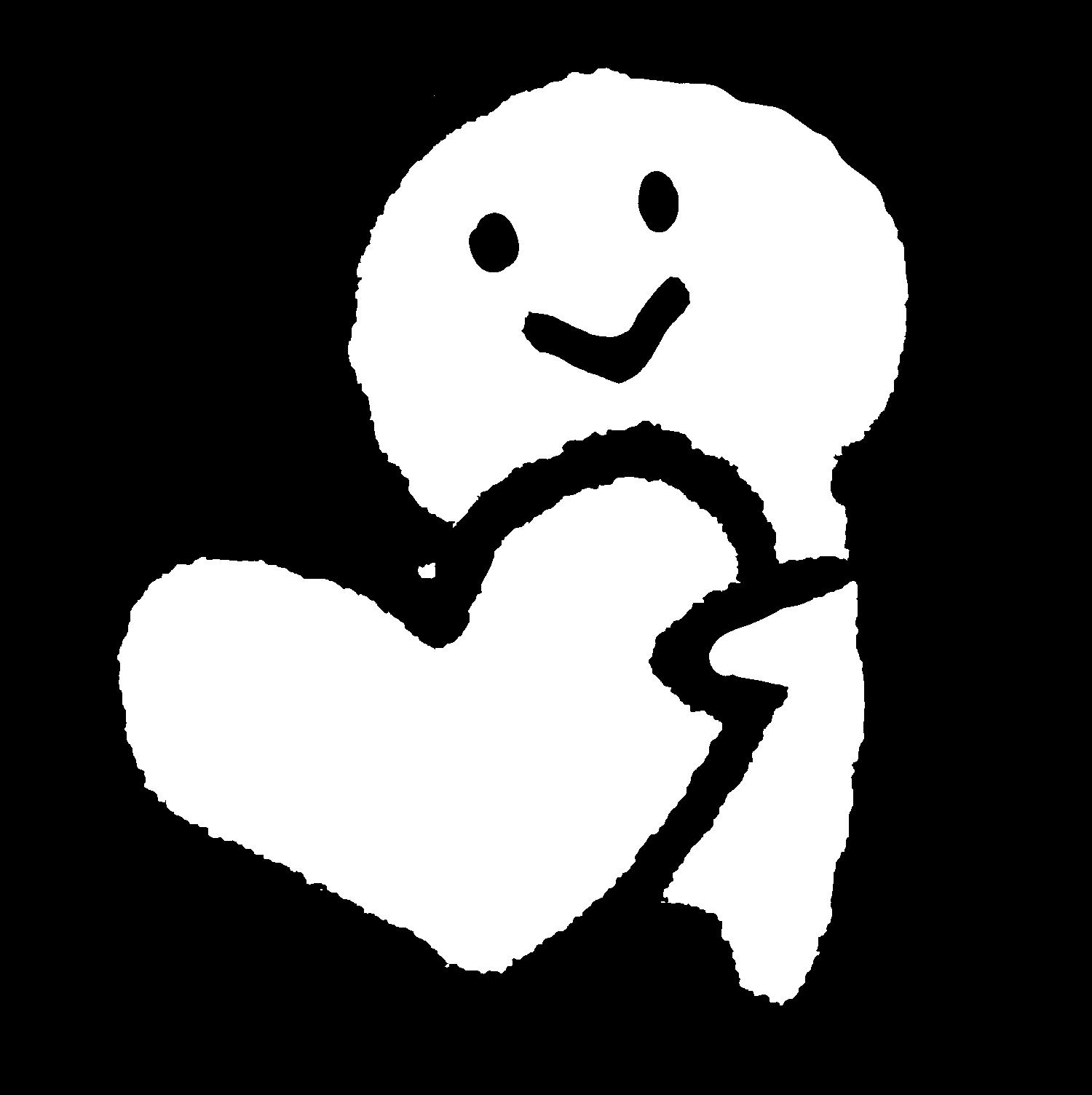 ハートを渡すのイラスト / Give the heart Illustration