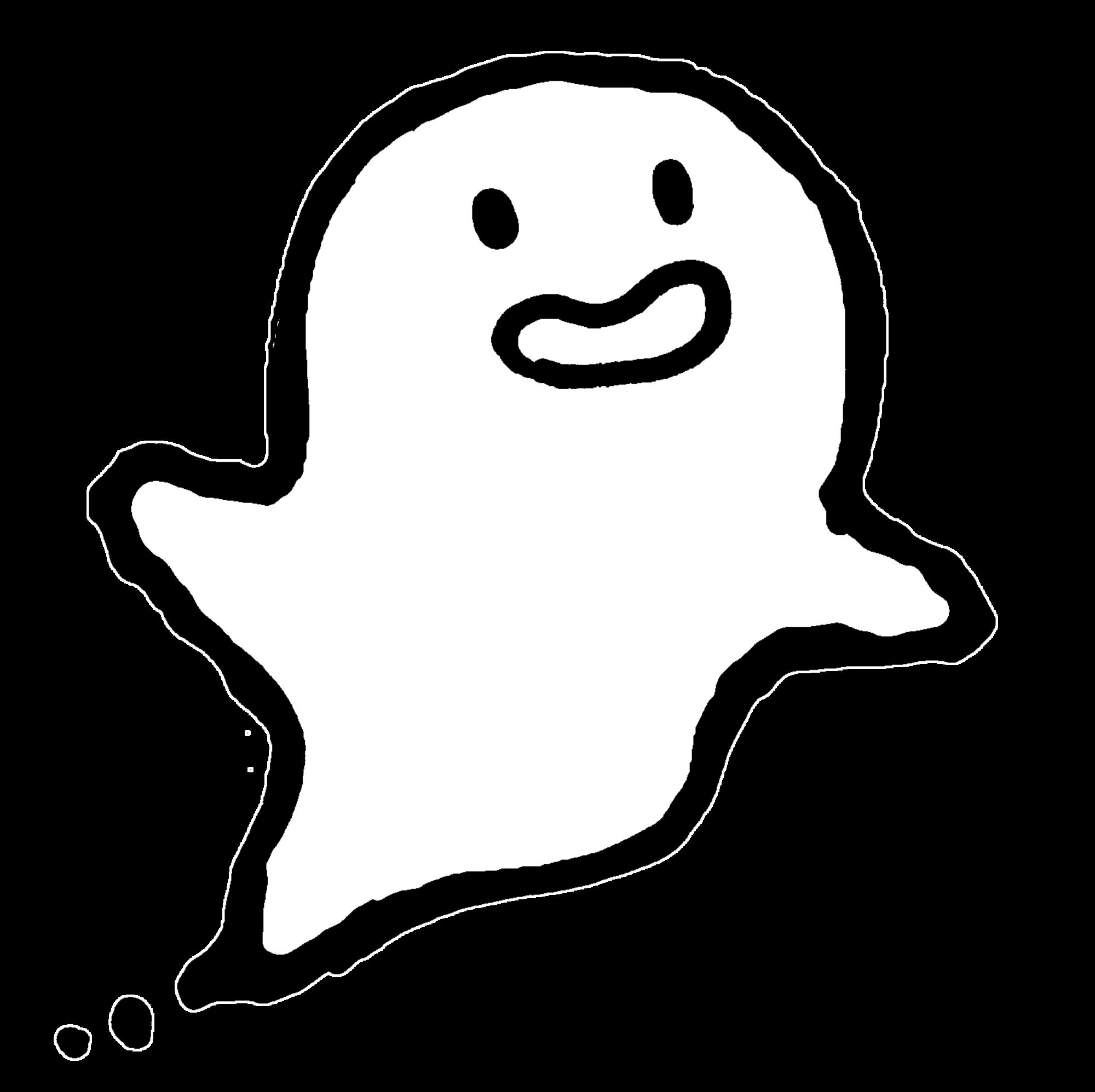 笑顔のおばけのイラスト / Smiling ghosts Illustration