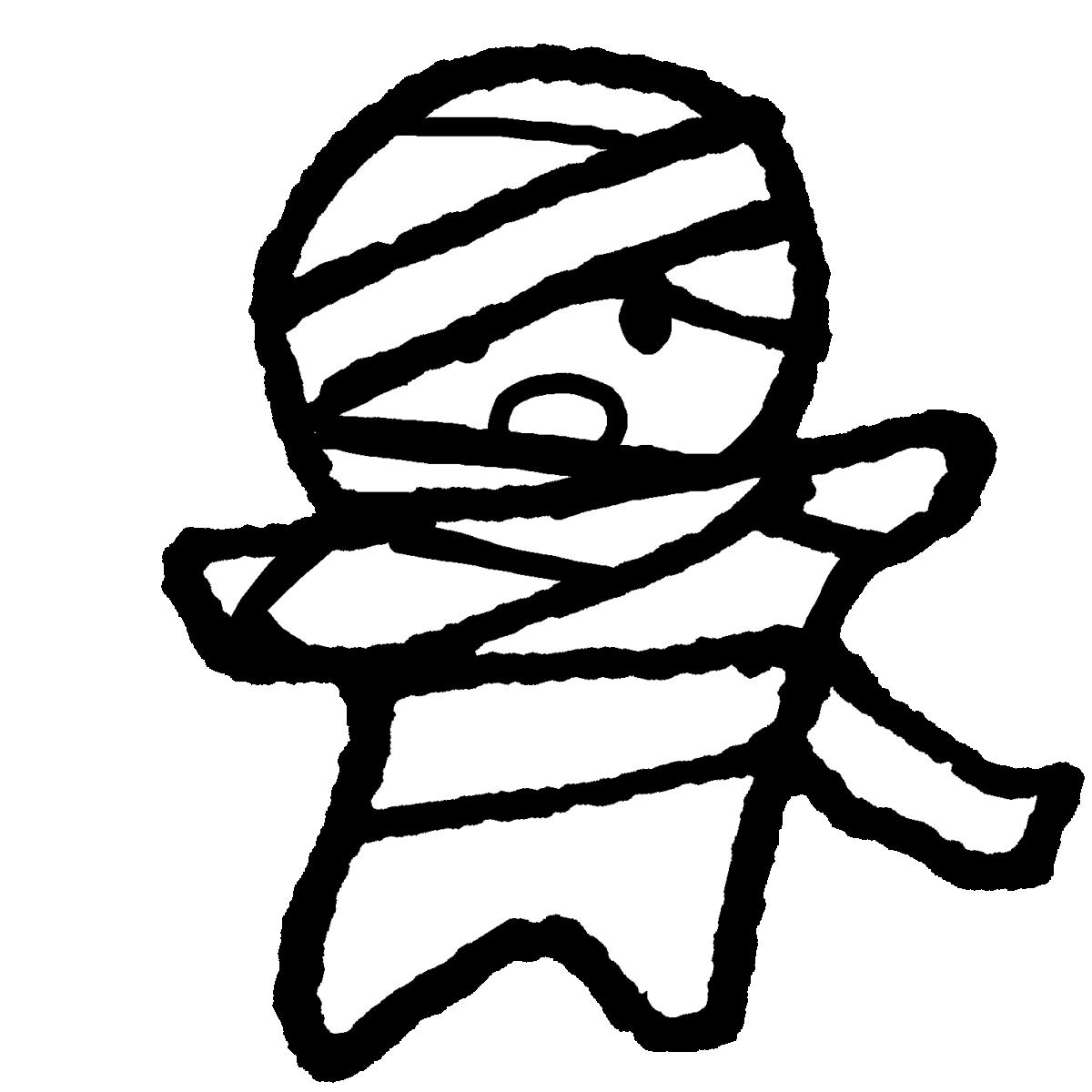ミイラ男(顔2種)のイラスト / Mummy man Illustration