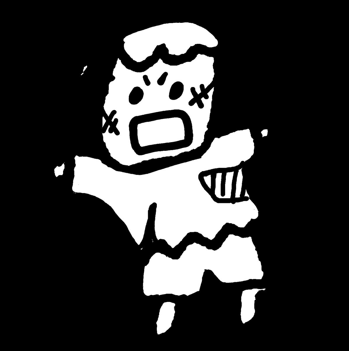 襲うフランケンのイラスト / Franken attack Illustration