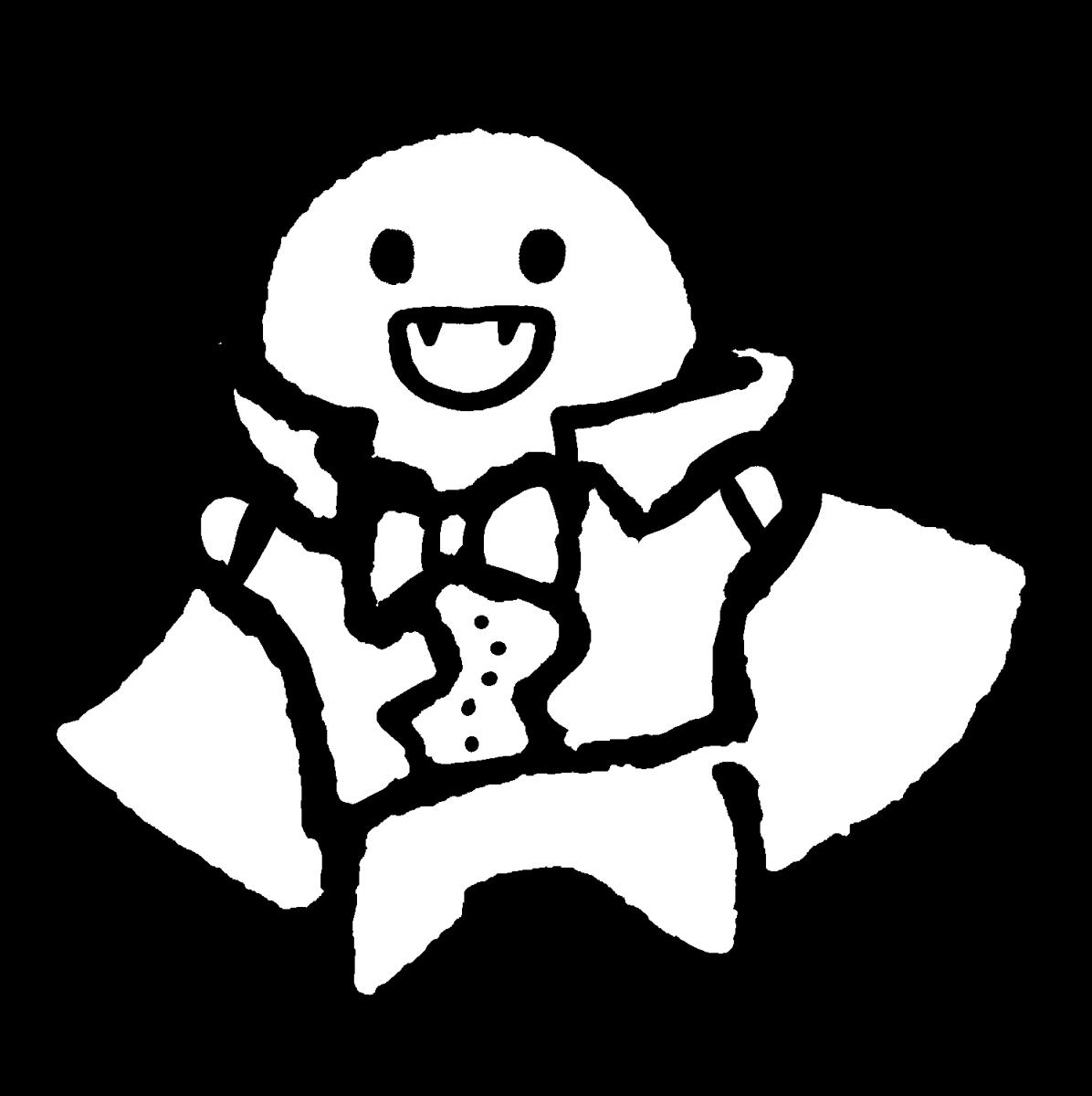ドラキュラ(丸さんver.)のイラスト /  Illustration