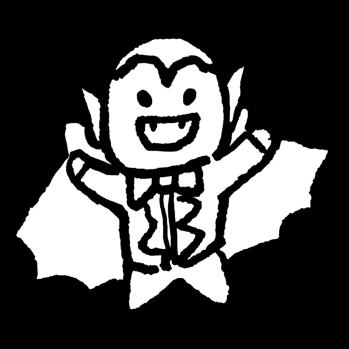 怖がらせるドラキュラのイラスト / Intimidating Dracula Illustration