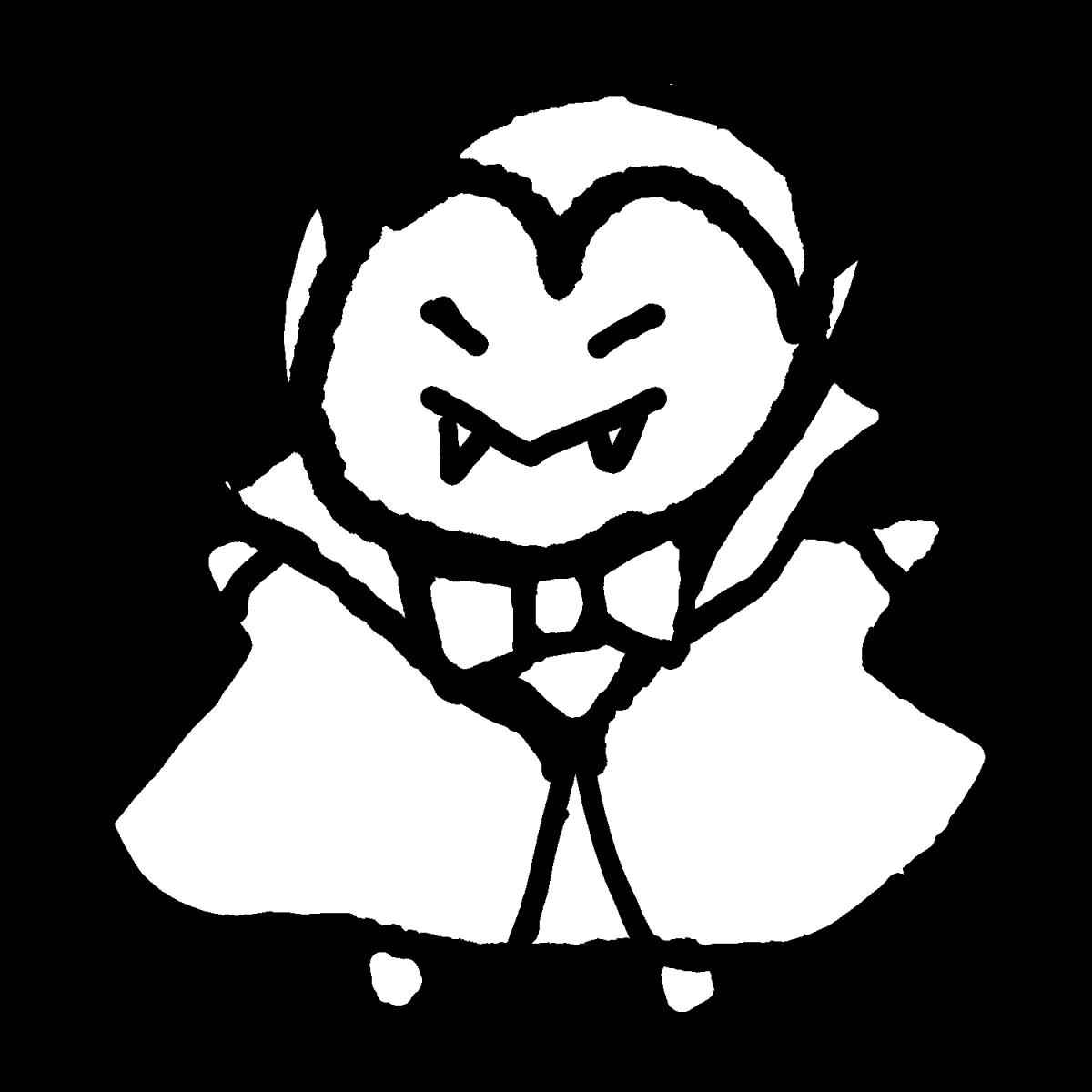 ドラキュラのイラスト / Dracula Illustration