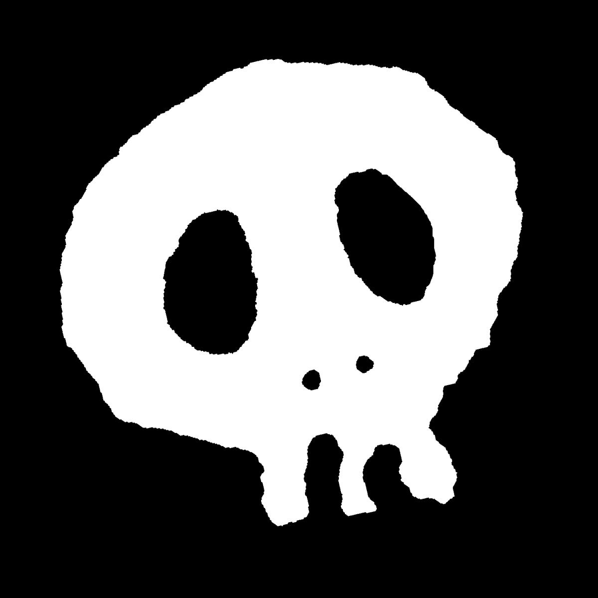 骸骨(ガイコツ)2種のイラスト / Skeleton Illustration