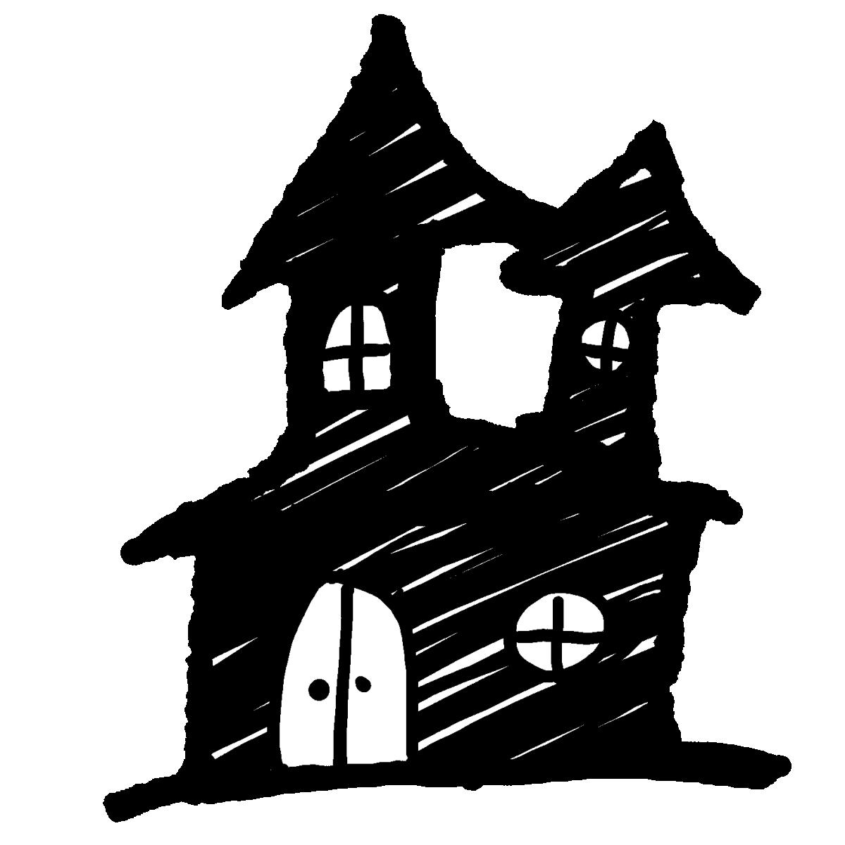家の影(2種)のイラスト / Shadow of house (2 types) Illustration