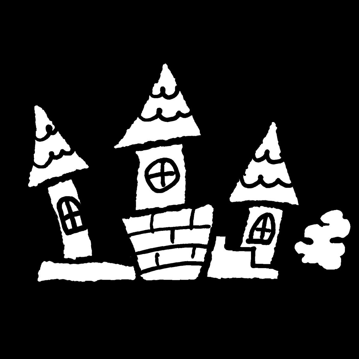 西洋風の屋敷のイラスト / Western-style house Illustration