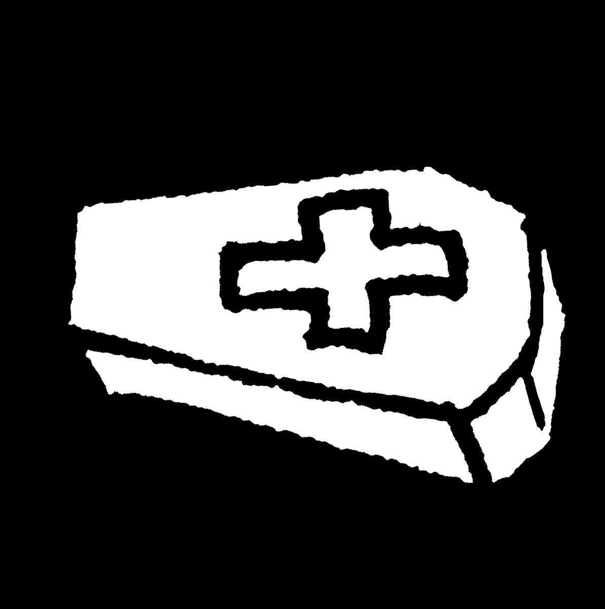 ドラキュラの棺桶のイラスト / Dracula's coffin Illustration