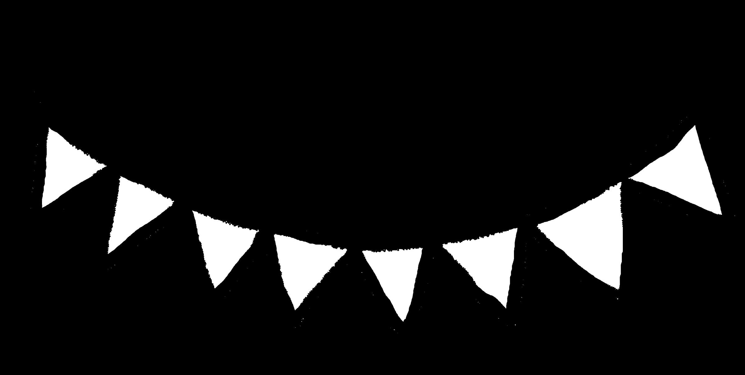 フラッグガーランド(2種)のイラスト / Flag Garland Illustration