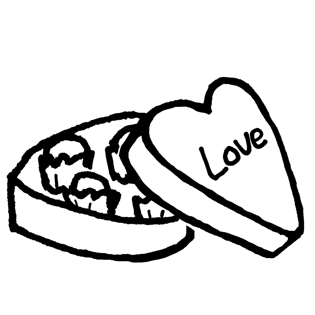 ハート型の箱入りチョコレートのイラスト / Heart boxed chocolate Illustration