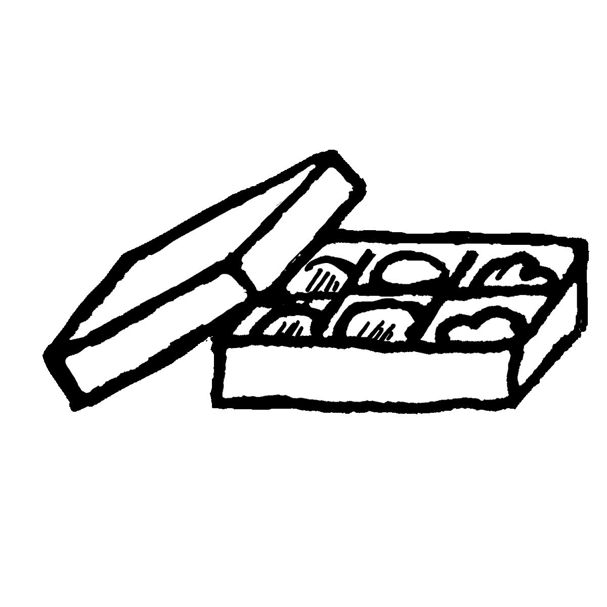箱入り BOXチョコレートのイラスト / Boxed chocolate Illustration