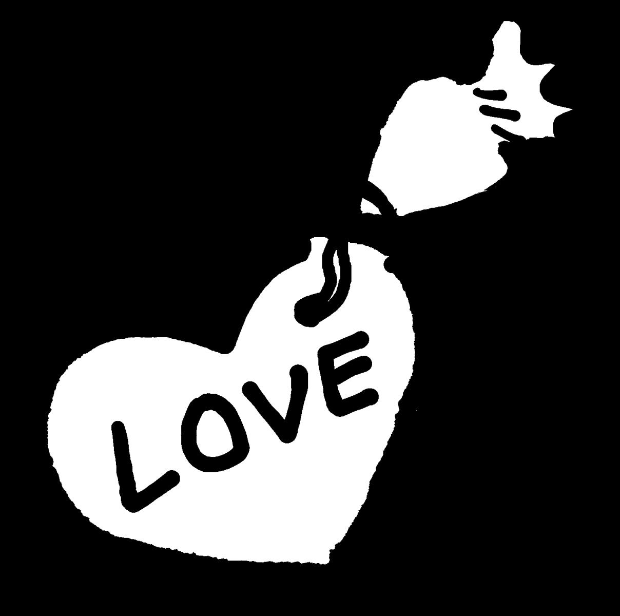 ハートにLOVEのアイシングのイラスト / LOVE icing on the heart Illustration