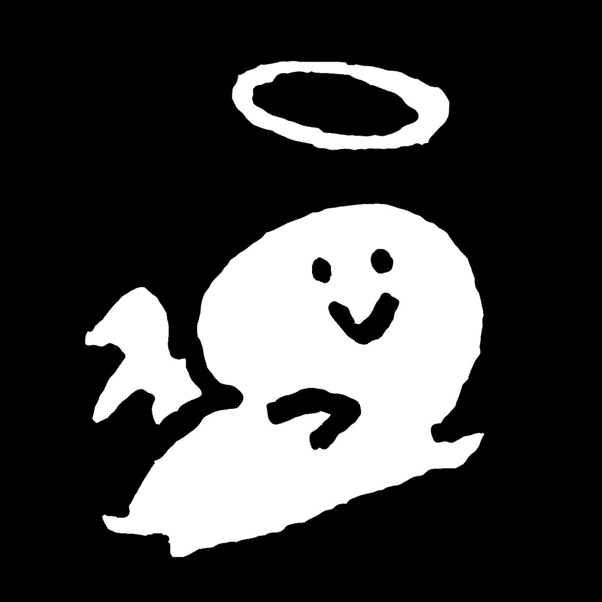 飛ぶ天使(3種)のイラスト / Flying angel (3 types) Illustration